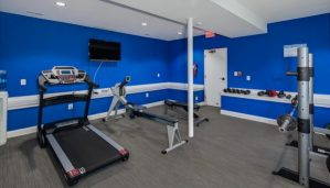 Home fitness room