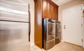 Silver washer & dryer