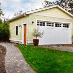 Garage door for detached garage