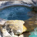Round Hot Tub Inground Installed