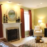 Fireplace with mantel