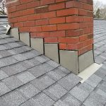 Roof flashing around chimney