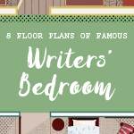 famous writers bedroom icon