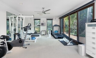 private home gym with equipment