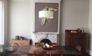 Smart speakers hidden in the ceiling in home in Brooklyn, New York.