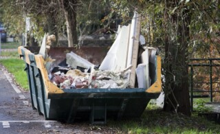 Disposing home improvement rubble and debris