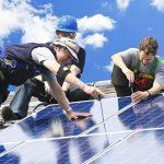 solar installer team