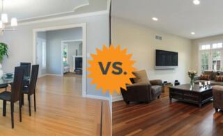 comparing laminate and hardwood flooring