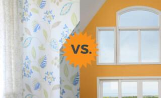 Wallpaper versus Paint