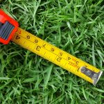 Finding lawn measurements with measuring tape