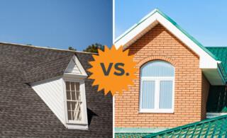 asphalt shingles vs metal roofs