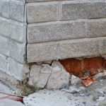 brick and concrete foundation needs repair
