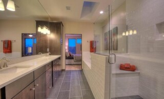 Master Bathroom With Tile Flooring