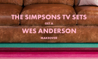 The Simpsons TV Sets Get a Wes Anderson Inspired Makeover